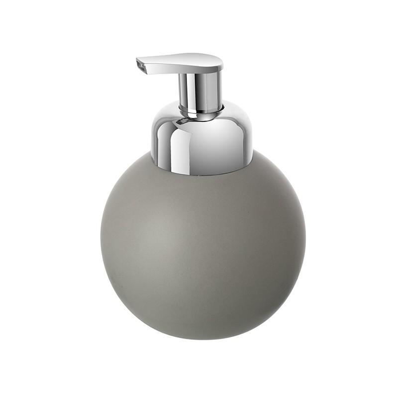 Dispenser Sapone In Ceramica Grigio Con Erogatore Di Schiuma