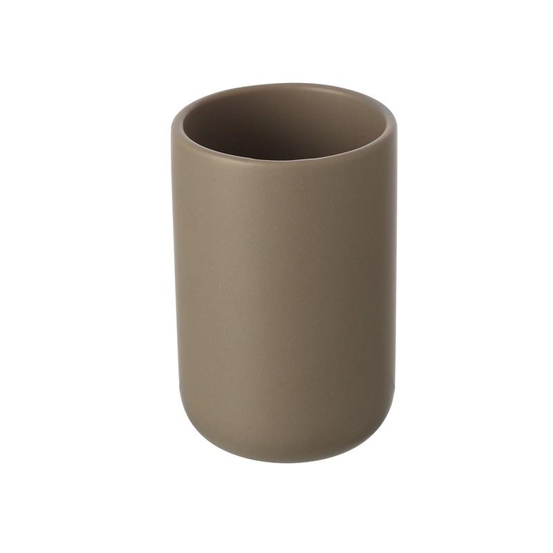 Portaspazzolino in Ceramica Tortora Linea Oslo