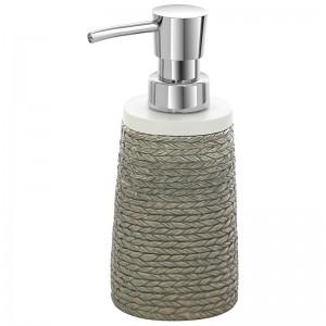Dispenser Sapone Liquido Grigio In Poliresina Effetto Vimini