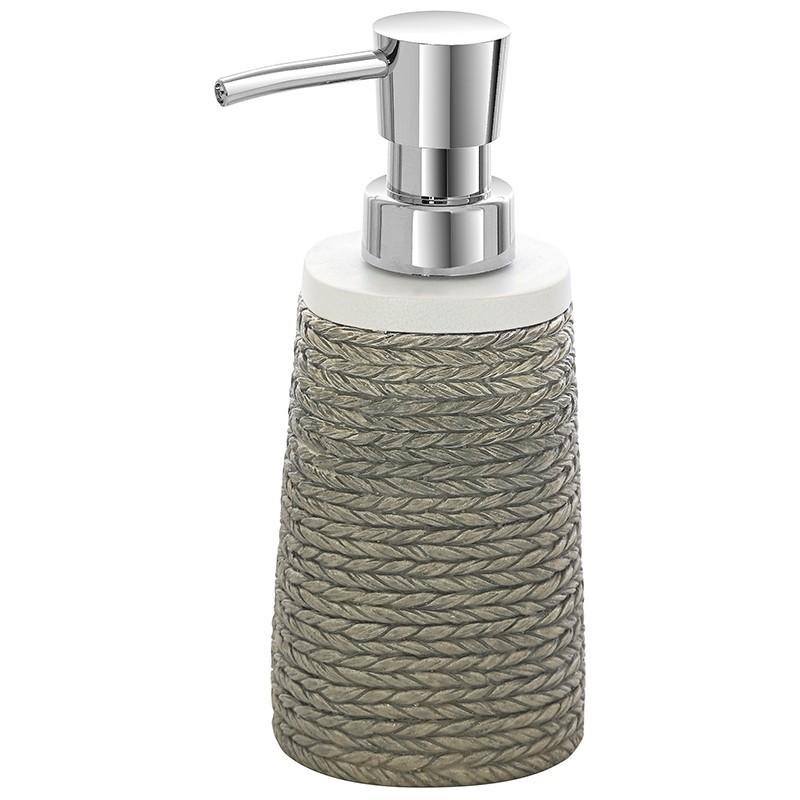 Dispenser Sapone Liquido Grigio In Poliresina Effetto Spago