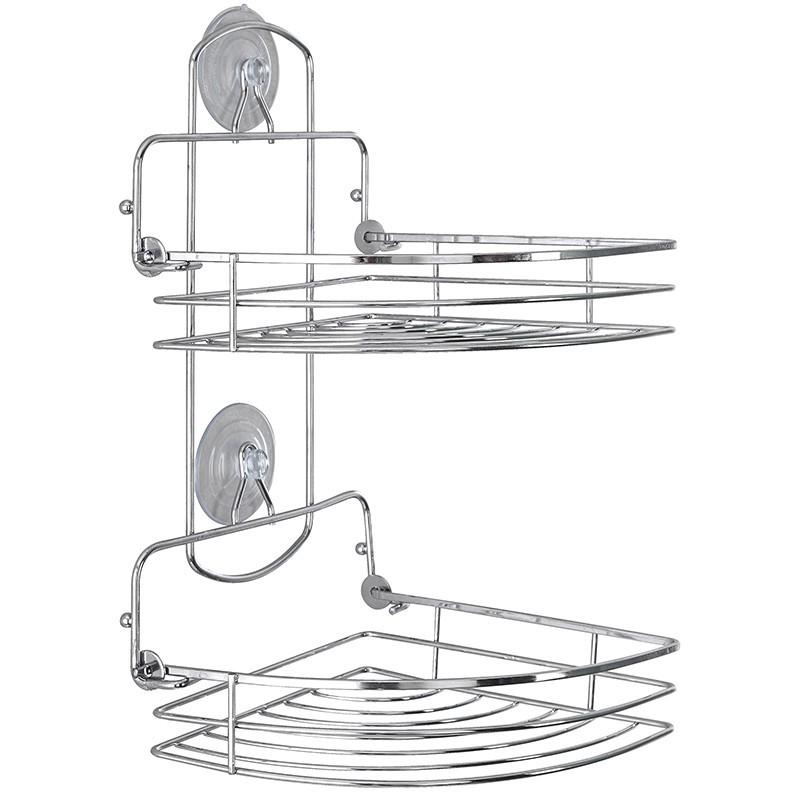 mensola angolare doccia cromo pieghevole