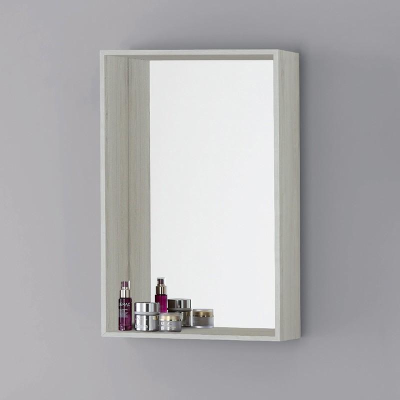 Specchiera contenitore rettangolare da bagno in Pino Bianco 45x70 cm
