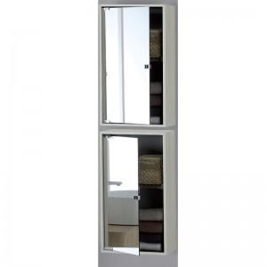Pensile Contenitore 60x33 con Anta Specchio Colore Pino Bianco