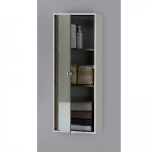 Pensile Contenitore 90X33 con Anta Specchio Colore Pino Bianco