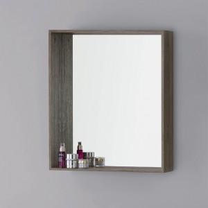 Specchiera in nobilitato color castagno 70 cm
