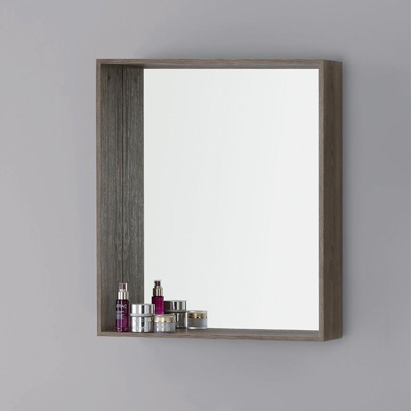 Specchiera 70x60 cm color Castagno a Parete