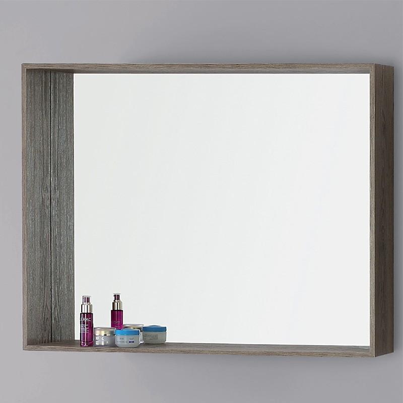 Specchiera In Nobilitato 70 Cm Color Castagno