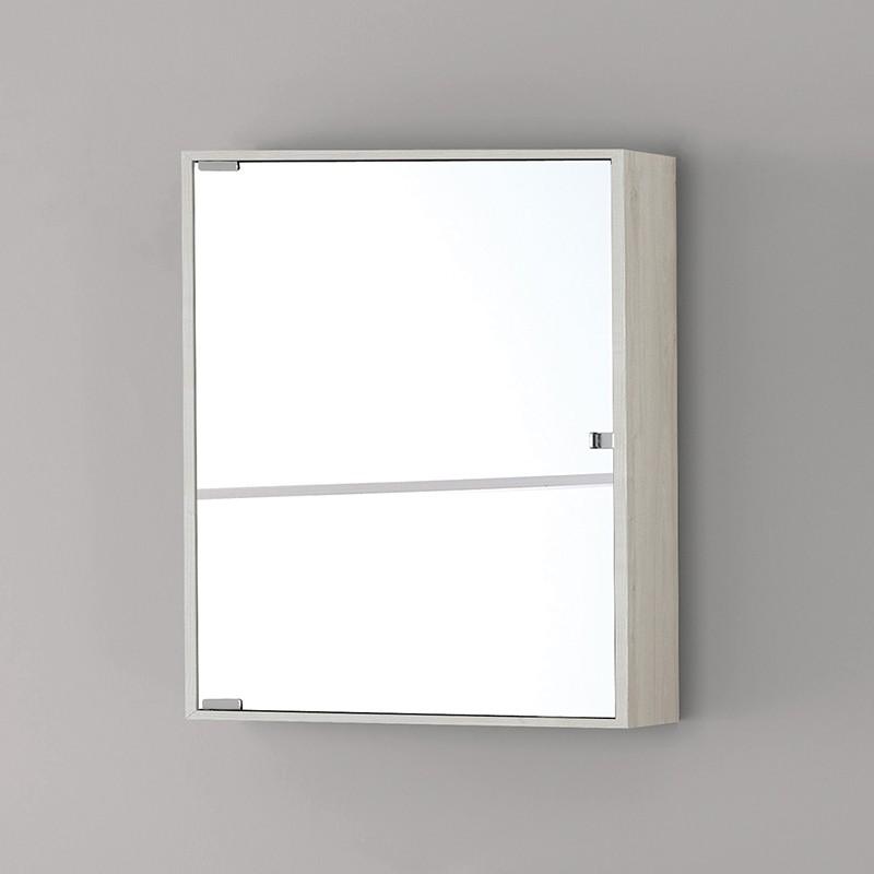 Specchio Bagno Bianco.Specchiera Bagno Contenitore Feridras Linea Over Pino Bianco L