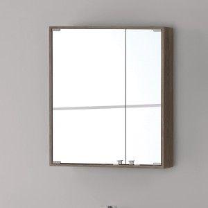 Specchiera PVC con Ante 60x70 Castano Chiaro Linea Over Feridras