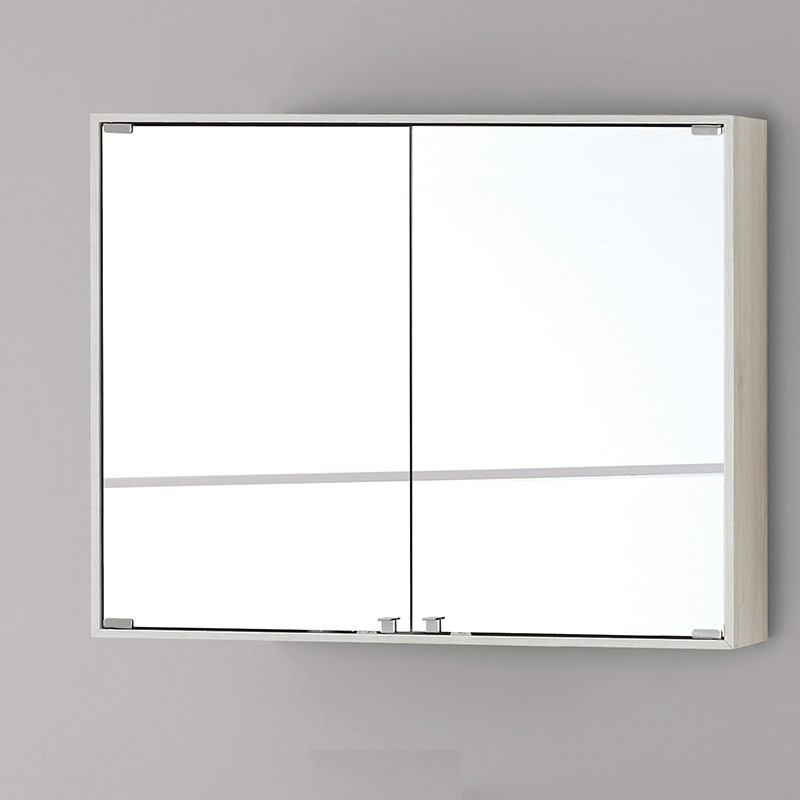 Specchiera Bagno Contenitore 70 cm Colore Pino Bianco