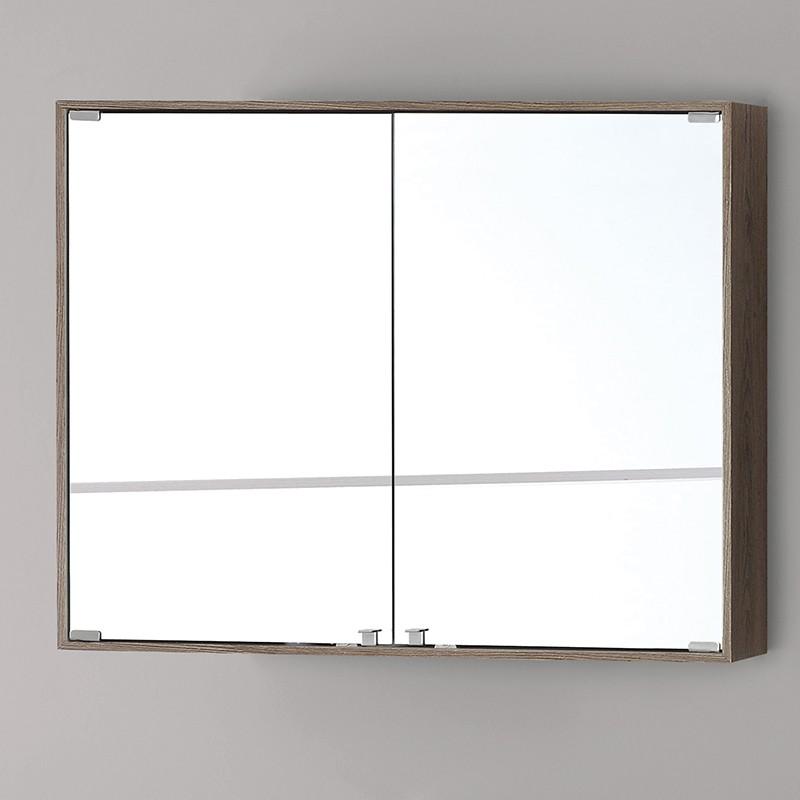 Specchiera Bagno Contenitore 70 cm Color Castagno