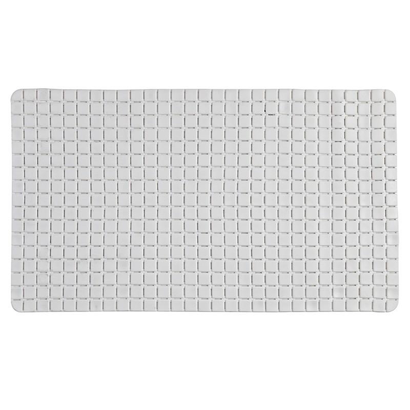 Tappeto Antiscivolo In PVC Per Doccia Mosaico Bianco 40x70 cm