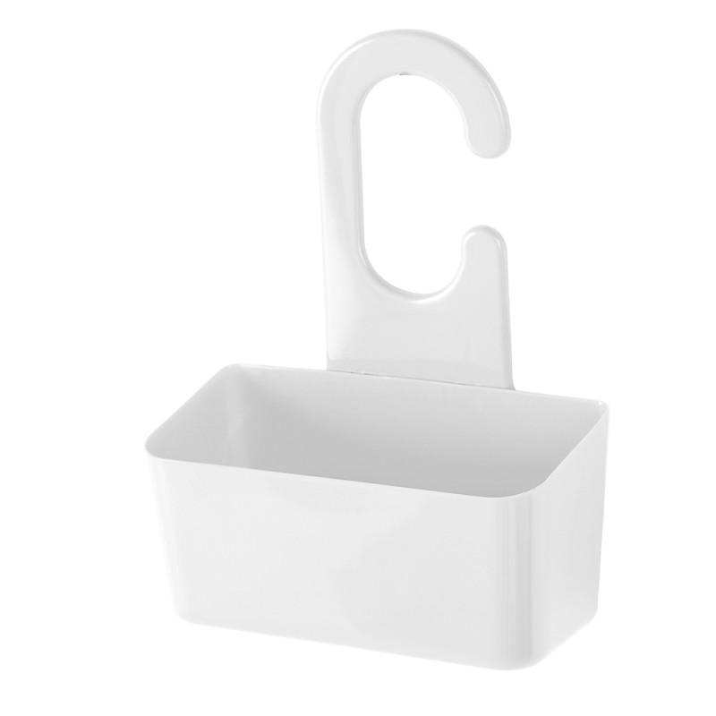 Portaoggetti Doccia Bianco in PVC con Gancio Linea Fox