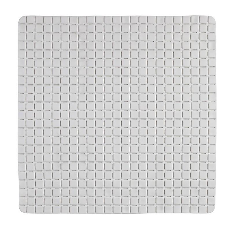 Tappeto Antiscivolo in PVC per Doccia Mosaico Bianco 54x54 cm