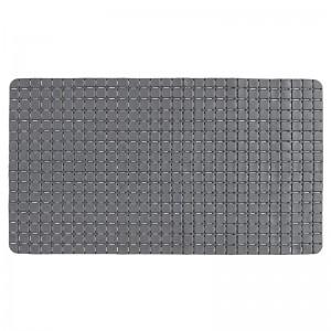 Tappeto antiscivolo Mosaico in pvc rettangolare grigio per doccia