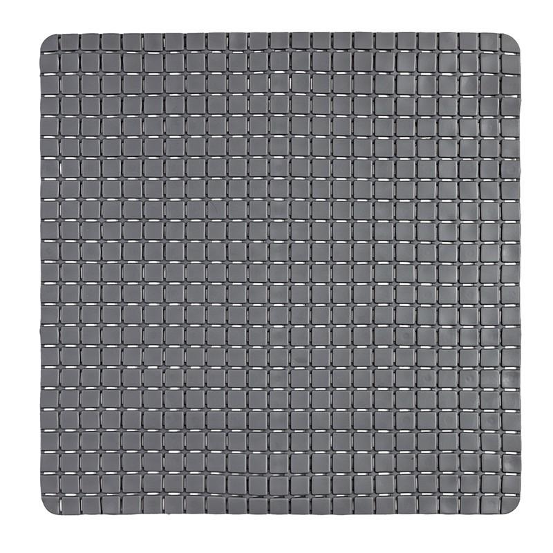 Tappeto Antiscivolo In PVC Per Doccia Mosaico Grigio 54x54 Cm