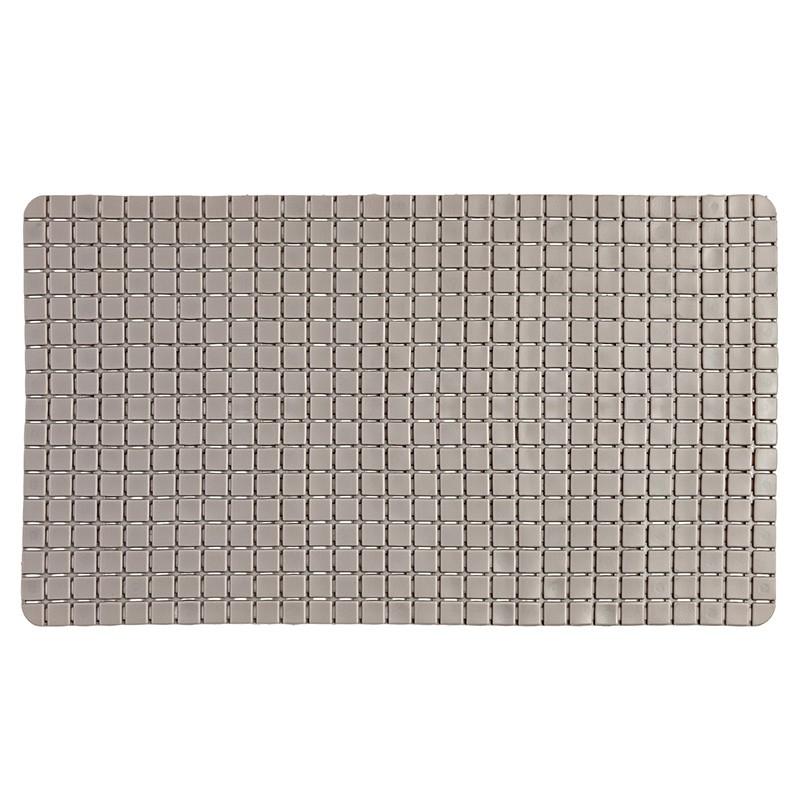 Tappeto Antiscivolo In PVC Per Doccia Mosaico Tortora 40x70 Cm
