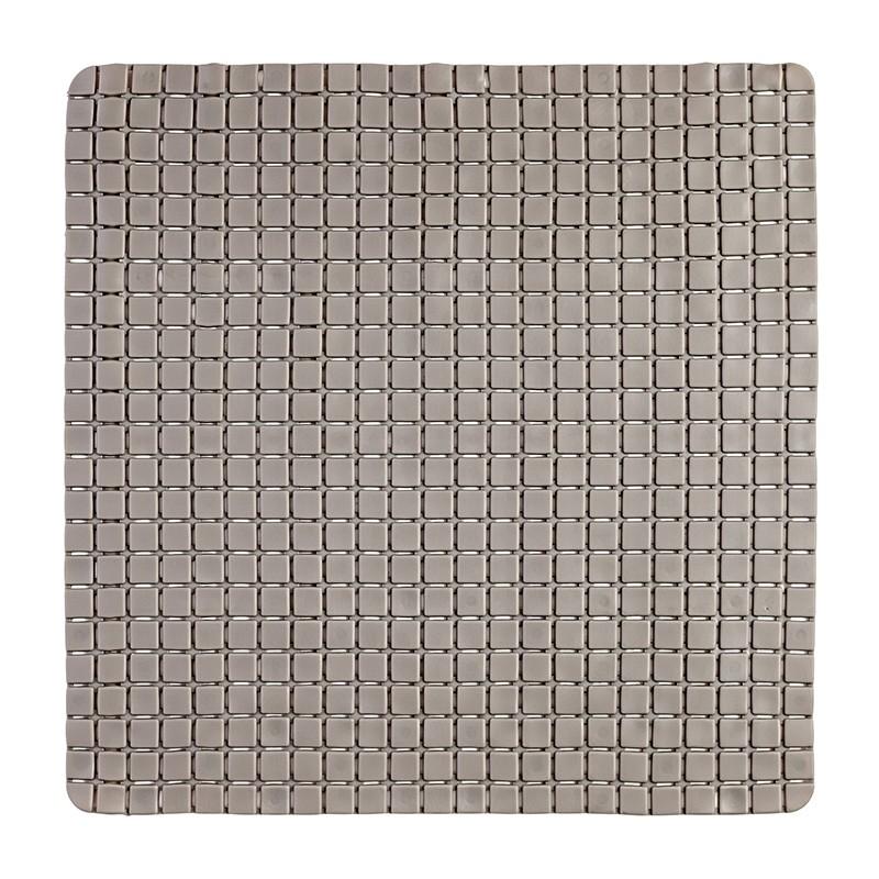 Tappeto Antiscivolo In PVC Per Doccia Mosaico tortora 54x54 Cm