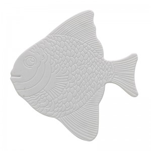 Set con 5 Formine Antiscivolo in PVC di colore Bianco a forma di Pesce