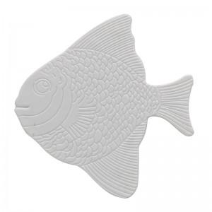 Set 5 Pz Formine Antiscivolo in PVC Bianco Pesce