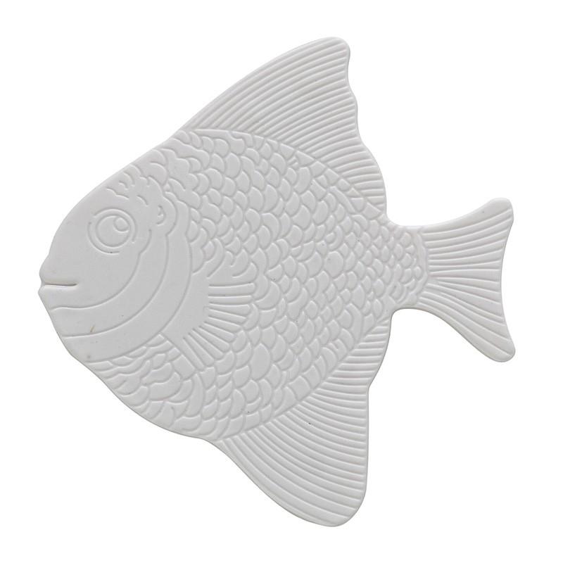 Set 5 Pezzi Formine Antiscivolo in PVC Bianco Pesce