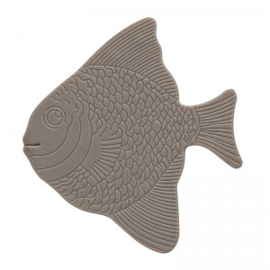 Set 5 Pz Formine Antiscivolo in PVC Tortora Pesce