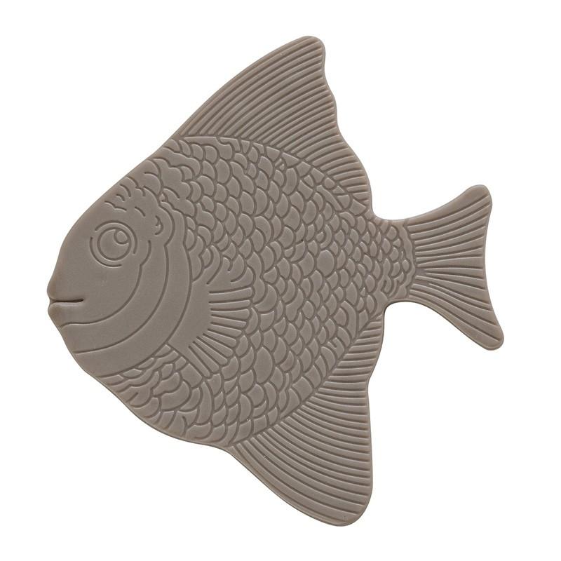 Formine Antiscivolo 5 pezzi in PVC colore Tortora forma di Pesce