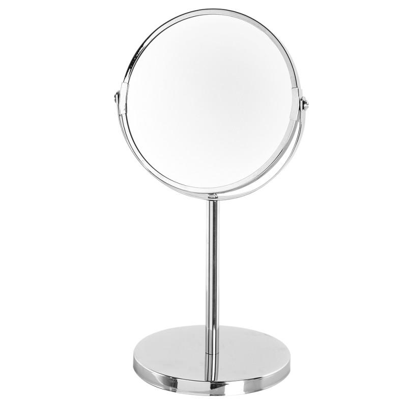 Specchio Beauty in Acciaio Cromato da Appoggio con Doppio Specchio