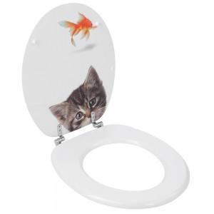 Copriwater in mdf stampato gatto