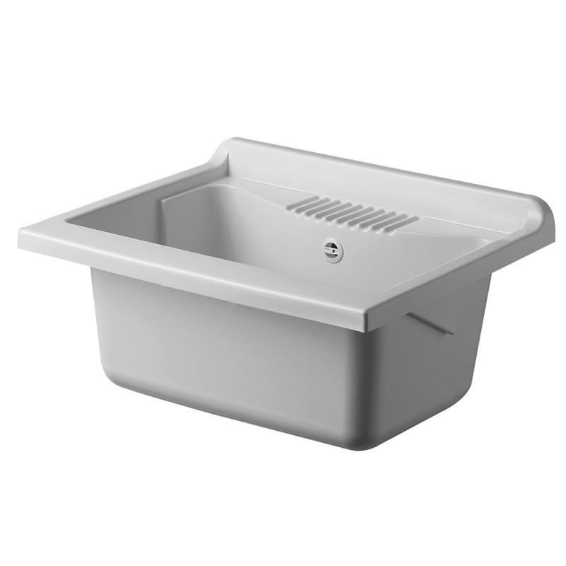 Vasca per Lavatoio Lavapanni 60x50 cm in PP colore Bianco con kit di scarico