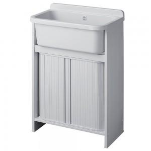 Mobile lavatoio Orazio Salvaspazio in resina 55x35