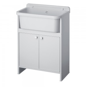 mobile lavatoio salvaspazio bianco