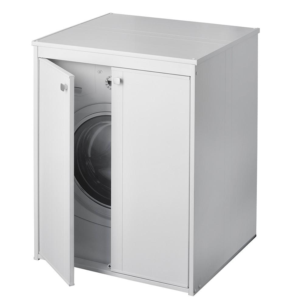 Mobile Colonna Lavatrice Asciugatrice mobile copri lavatrice da esterno 70 x 60 in pvc con 2 ante