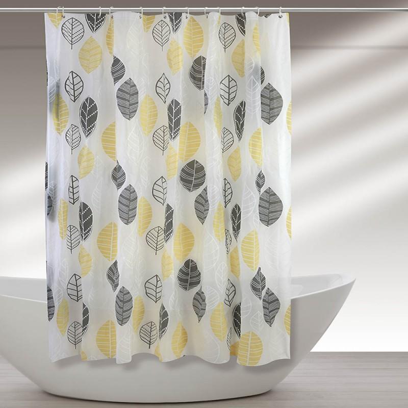 Tenda Per Doccia In Vinile 180 X 200h Cm Decorata Con Motivo Floreale