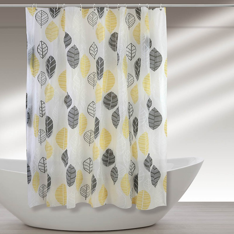 Tenda Per Doccia In Vinile 240 X 200h Cm Decorata Con Motivo Floreale