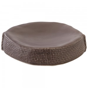 Portasapone in Ceramica Grigio Linea Sacco