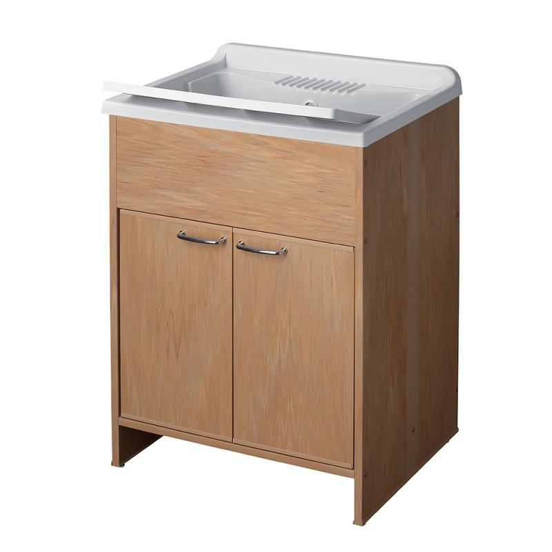 Mobile Lavatoio Colorato Frassino 60 x 50 completo di asse lavapanni