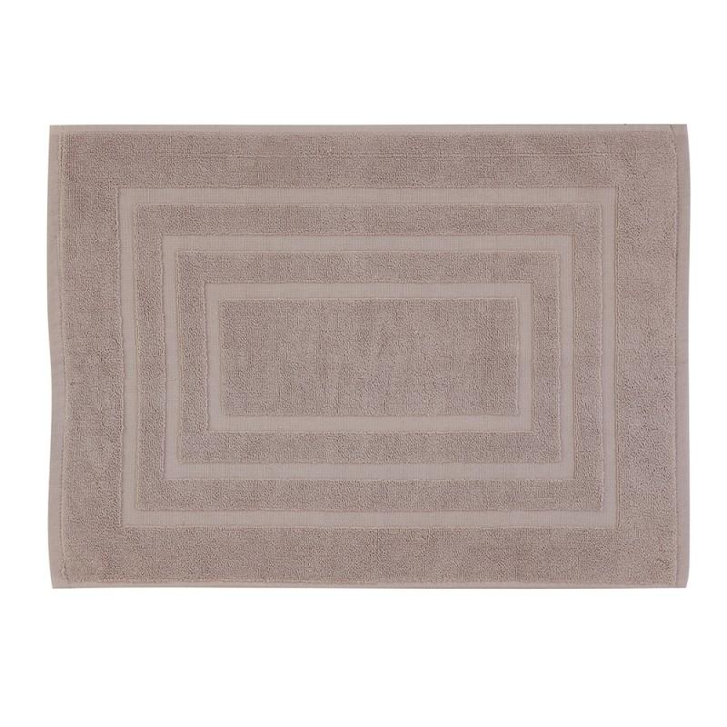 Tappeto Scendidoccia Bagno Color Sabbia 100% Cotone 50x80 cm