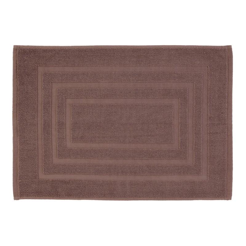 Tappeto Scendidoccia Bagno Color Tortora 100% Cotone 50x80 Cm