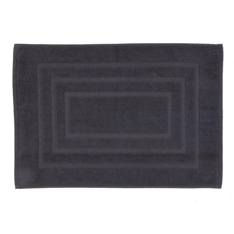 Tappeto Scendidoccia Bagno Color Grigio 100% Cotone 50x80 Cm
