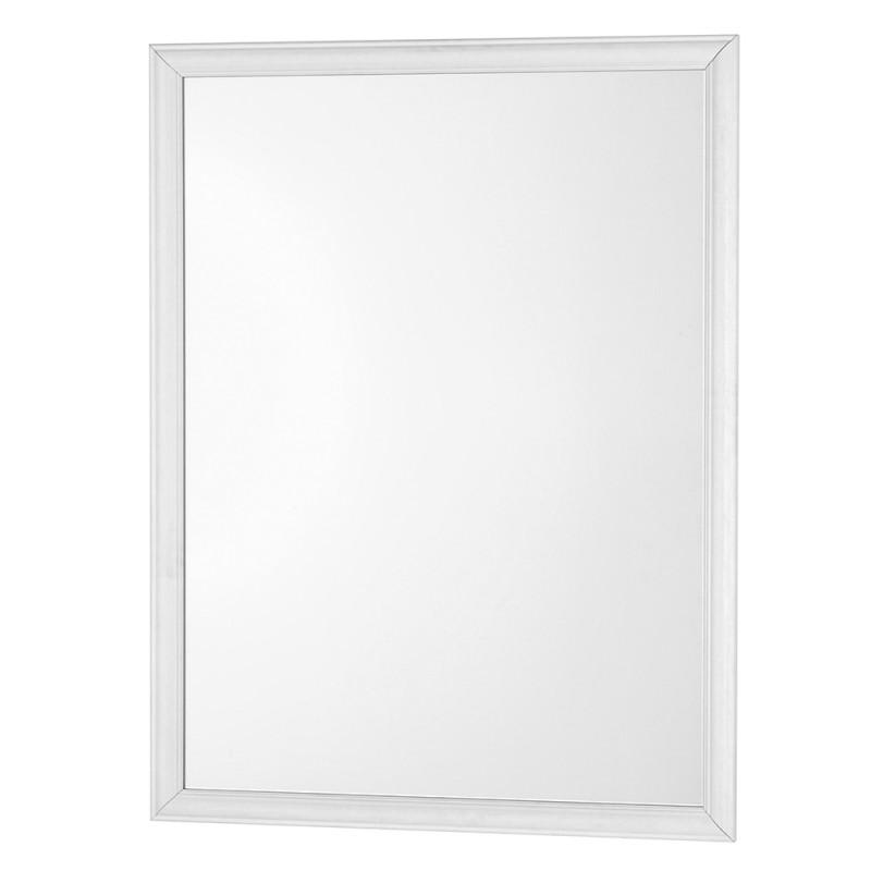 Specchio Con Cornice ABS Bianca 66x86 Cm Arredo Moderno