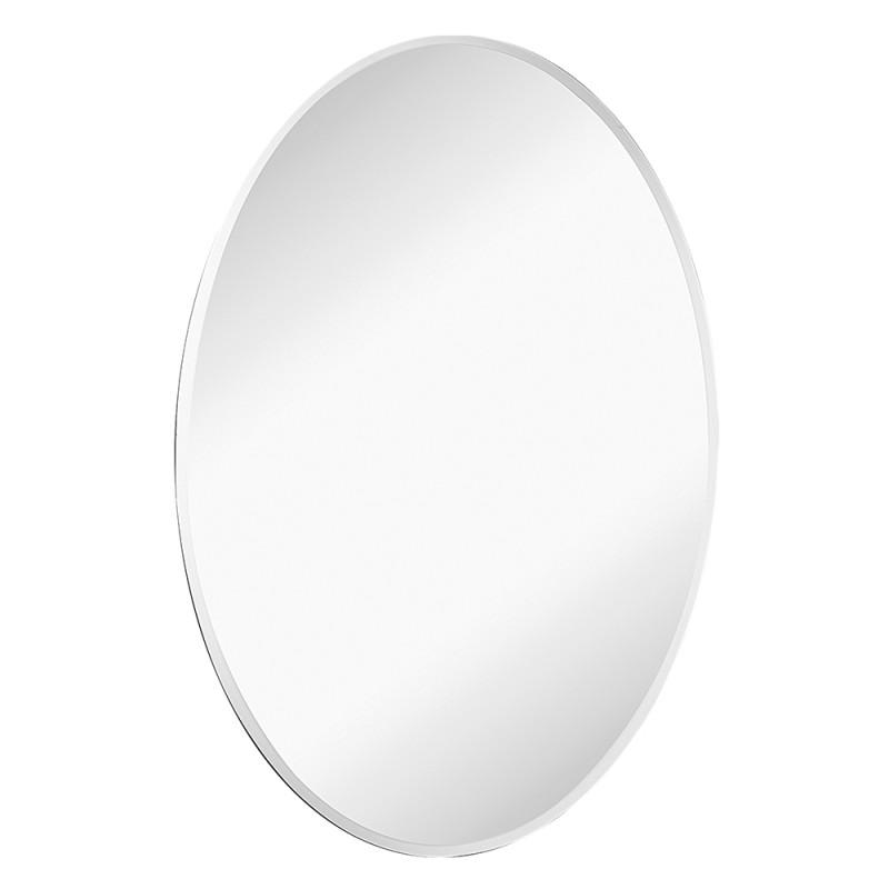 Specchio Decorativo Ovale Bisellato 45x65H Montaggio Reversibile