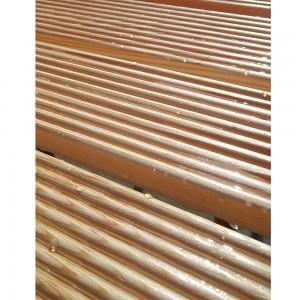 pedana in legno per doccia angolare