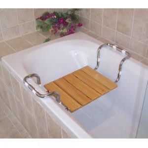 Sedile per vasca regolabile in legno