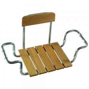 Sedile Vasca con Schienale in Massello di Larice C.M. Larghezza Regolabile