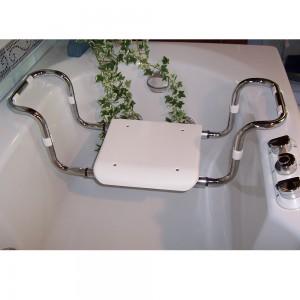sedile in acciaio e plastica per vasca