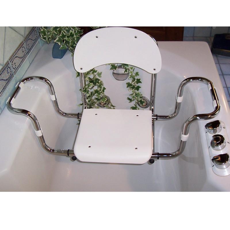 Sedile per Vasca con Schienale Larghezza Regolabile con Seduta in Polipropilene