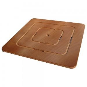 Pedana Doccia in Legno Marino 50 x 50 Antiscivolo Design Slim Ideale per Piatto Doccia 70 x 70