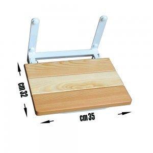 sedile doccia per anziani in legno