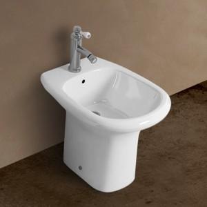 Bidet a Pavimento Rak serie Orient colore Bianco Rak Ceramiche - 1